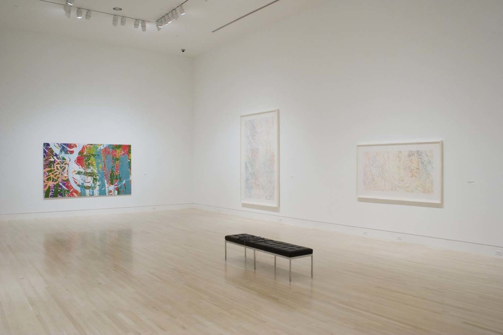 "Installation view of ""Ingrid Calame: Traces of the Indianapolis Motor Speedway"" at the Indianapolis Museum of Art, 2007"