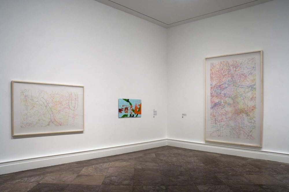 "Albright Knox Art Gallery, installation view of ""Ingrid Calame: Step on a Crack"", 2009"