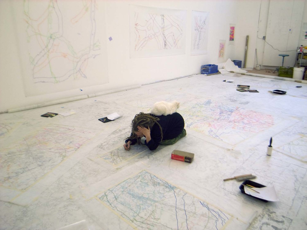 Ingrid Calame and Sula drawing, 2007