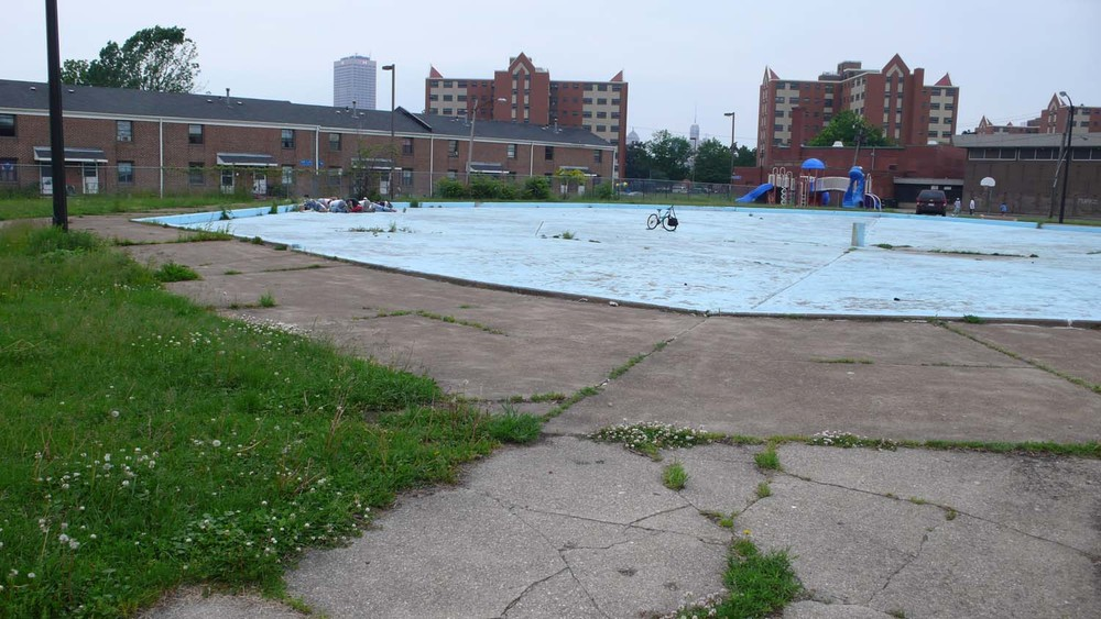 Abandoned Public Wading Pool at Perry Projects Public Housing Project, Buffalo, NY, 2008