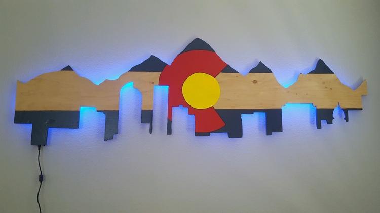Led Wall Art custom led wall art — bzcustomtables
