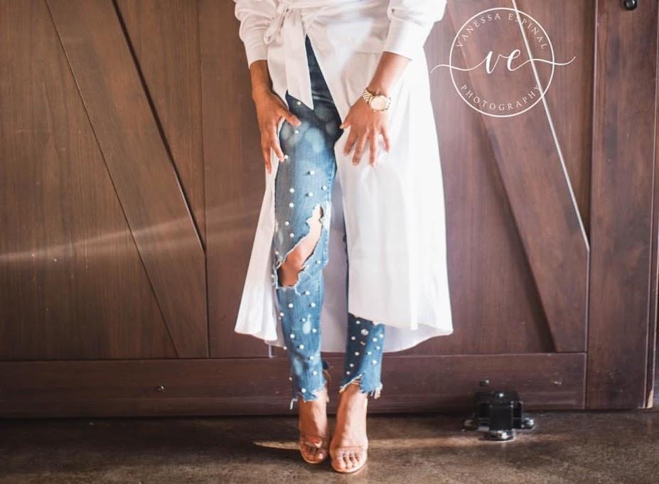 - Custom JeansDetroit, MI Boutique  IG: Prettiynpiynk  Email
