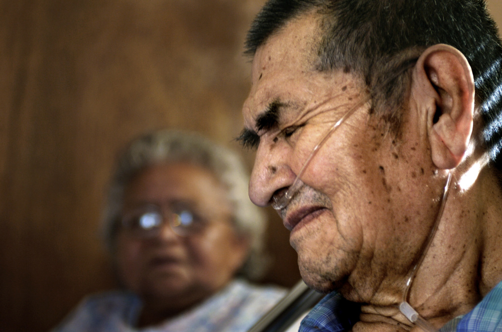 Ned Yazzie, who lives near an abandoned mine, opposes renewed efforts to extract uranium from Navajo land. This past August a heavy rain flushed radioactive material from the mine into an arroyo where his cattle graze. ©Gail Fisher Los Angeles Times