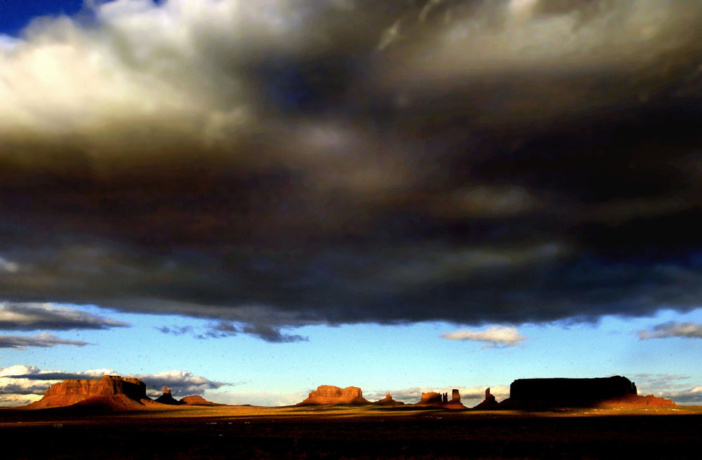 More than 180,000 people are scattered among the Navajo's four sacred peaks. The region is more than homeland; it's a holy land. ©Gail Fisher Los Angeles Times