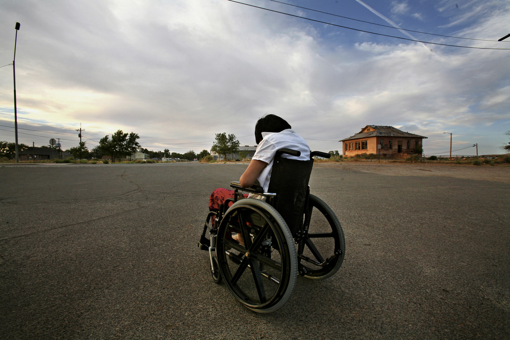 """Why me? I have that question sometimes in my mind. I used to say like I'm a strong person, but that's fading away. So, I guess this is something that you have to live with,"" says Laura who struggles with Navajo Neuropathy. ©Gail Fisher Los Angeles Times"