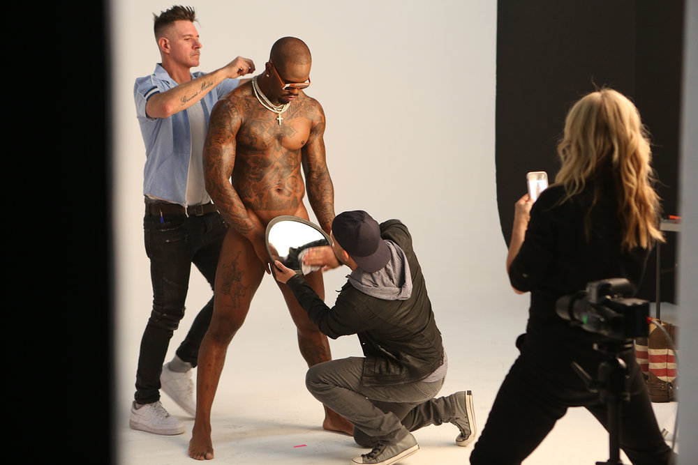 Props are added and cleaned for the shoot by the stylists. © Gail Fisher for ESPN