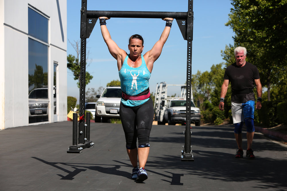 Wife, mom, professional, elite CrossFitter. Tonia Osborne from Mission Viejo, CA, 45, proves that with dedication, sacrifice and a solid support system, you can do it all. © Gail Fisher for ESPN