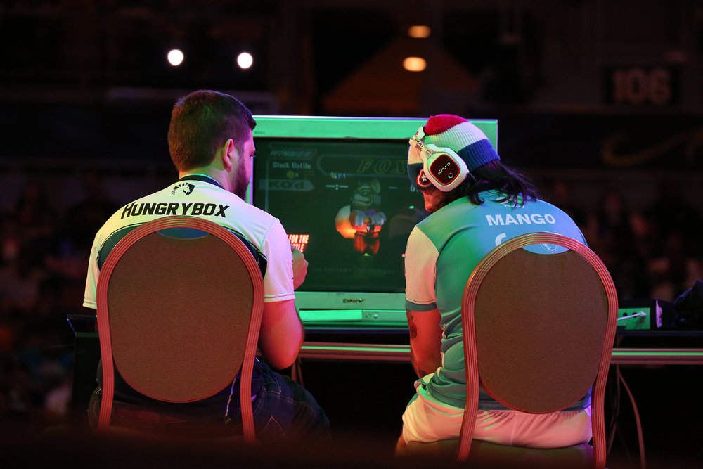 "Juan ""Hungry Box"" Debiedma went on to defeat Joseph ""Mango"" Marquez during the SUPER SMASH BROS MELEE top eight competing for the Championship. © Gail Fisher for ESPN"