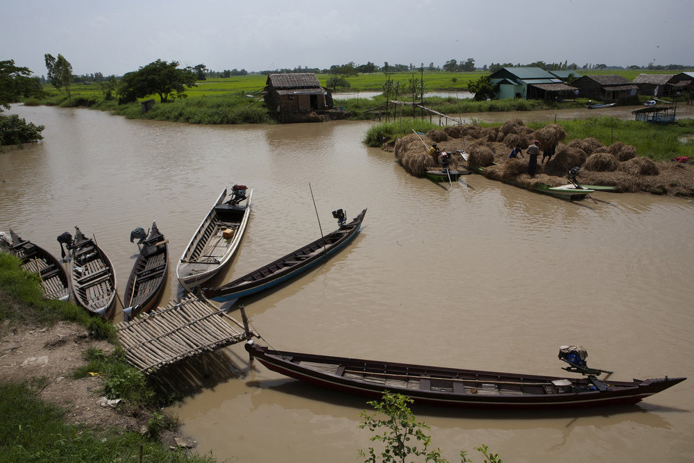 The Irrawaddy Delta region includes fishing communities in a vast area full of rivers and streams. © Gail Fisher for Los Angeles Times