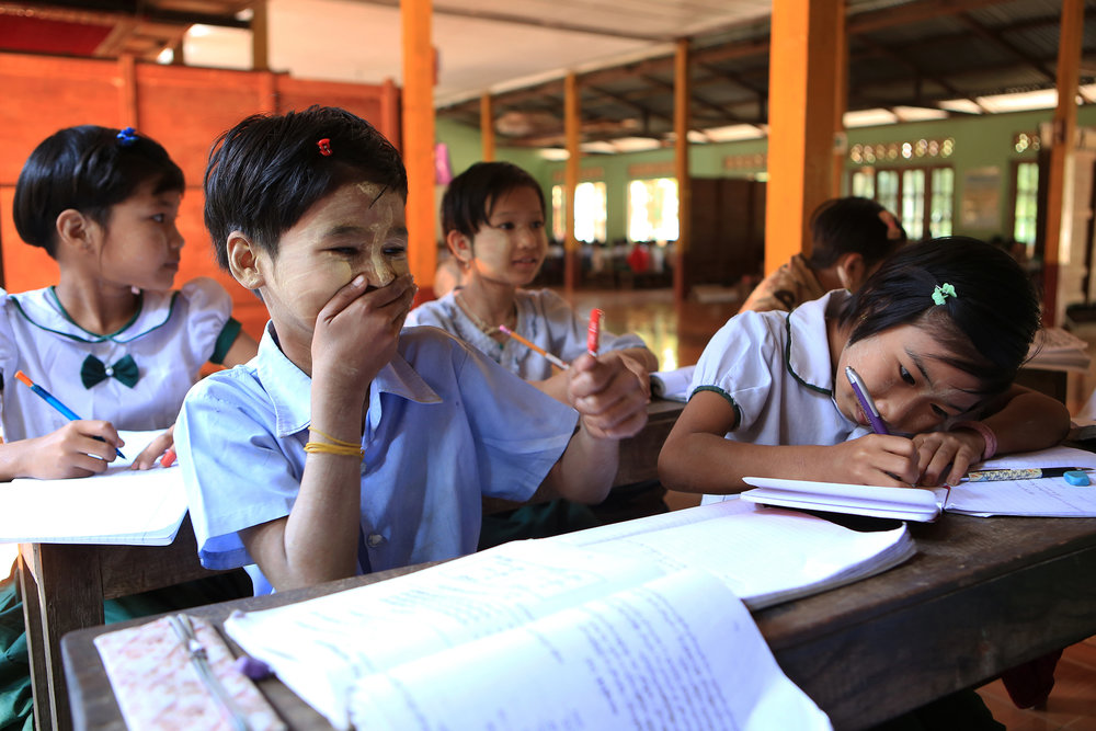 Ma Soe Yein Monastery , subjects such as English, science and mathematics are taught to more than 300 students. © Gail Fisher for Los Angeles Times