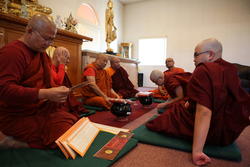 Through the teachings of Buddha, Ashin Gunissara, aims to continue his quest to help others cultivate understanding. As a monk, he is a teacher, counselor and spiritual mentor. © Gail Fisher for Los Angeles Times