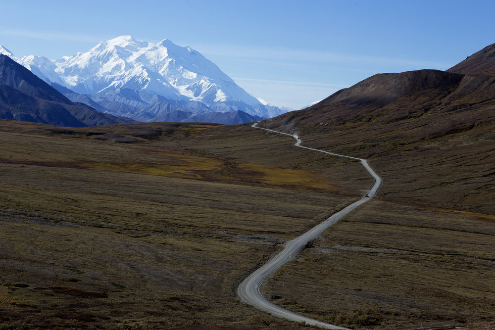 Denali National Park and Preserve is six million acres of wild land. Mt. Denali, also known as Mt. McKinley, it's former official name, is the tallest mountain in North America, the peak, 20,310 feet above sea level.  © Photo by Gail Fisher
