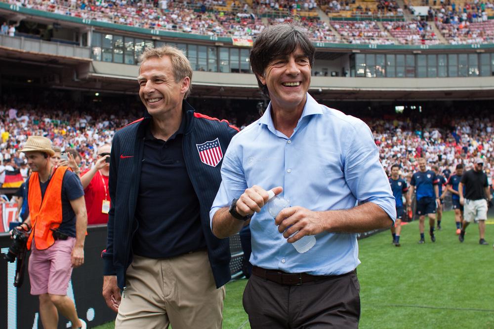 Jurgen Klinsmann & Joachim Low (r)