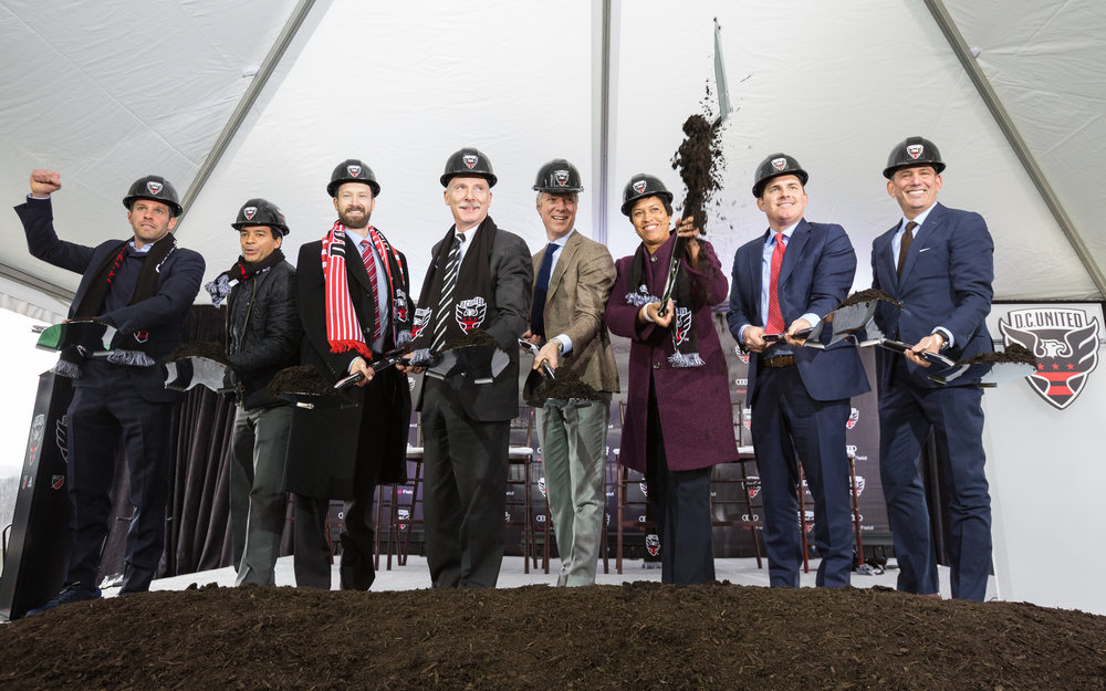 Audi Field (D.C. United stadium) Groundbreaking