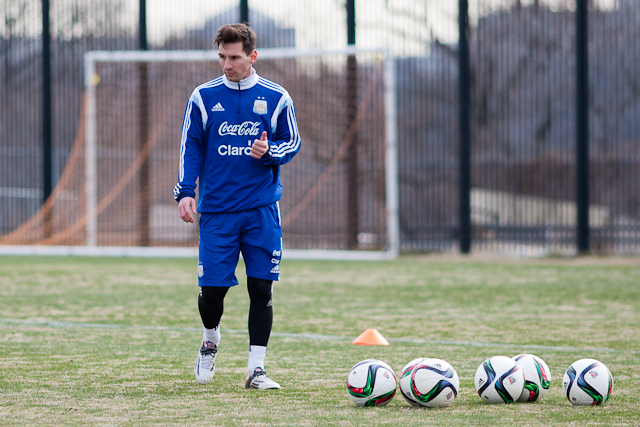 Messi, Argentina Train at Georgetown University