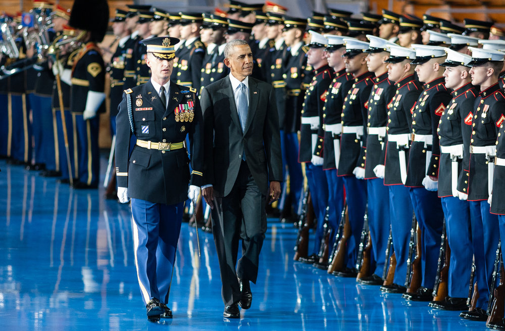 Armed Forces Full Honor Review Farewell to President Barack Obama