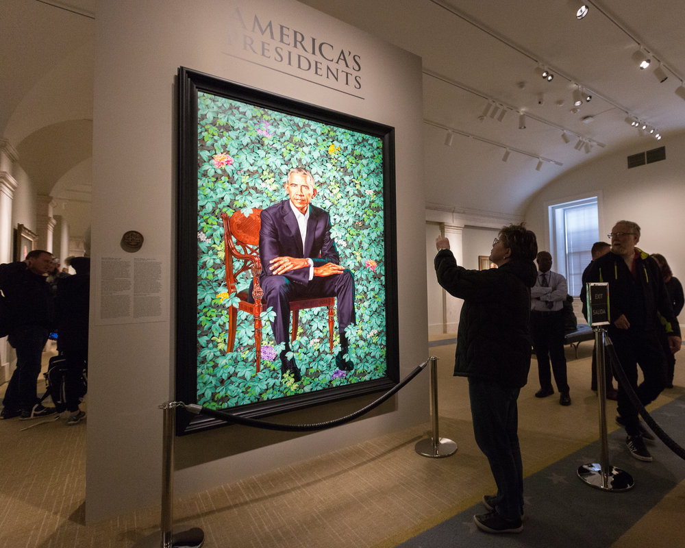Obama Portraits Unveiled