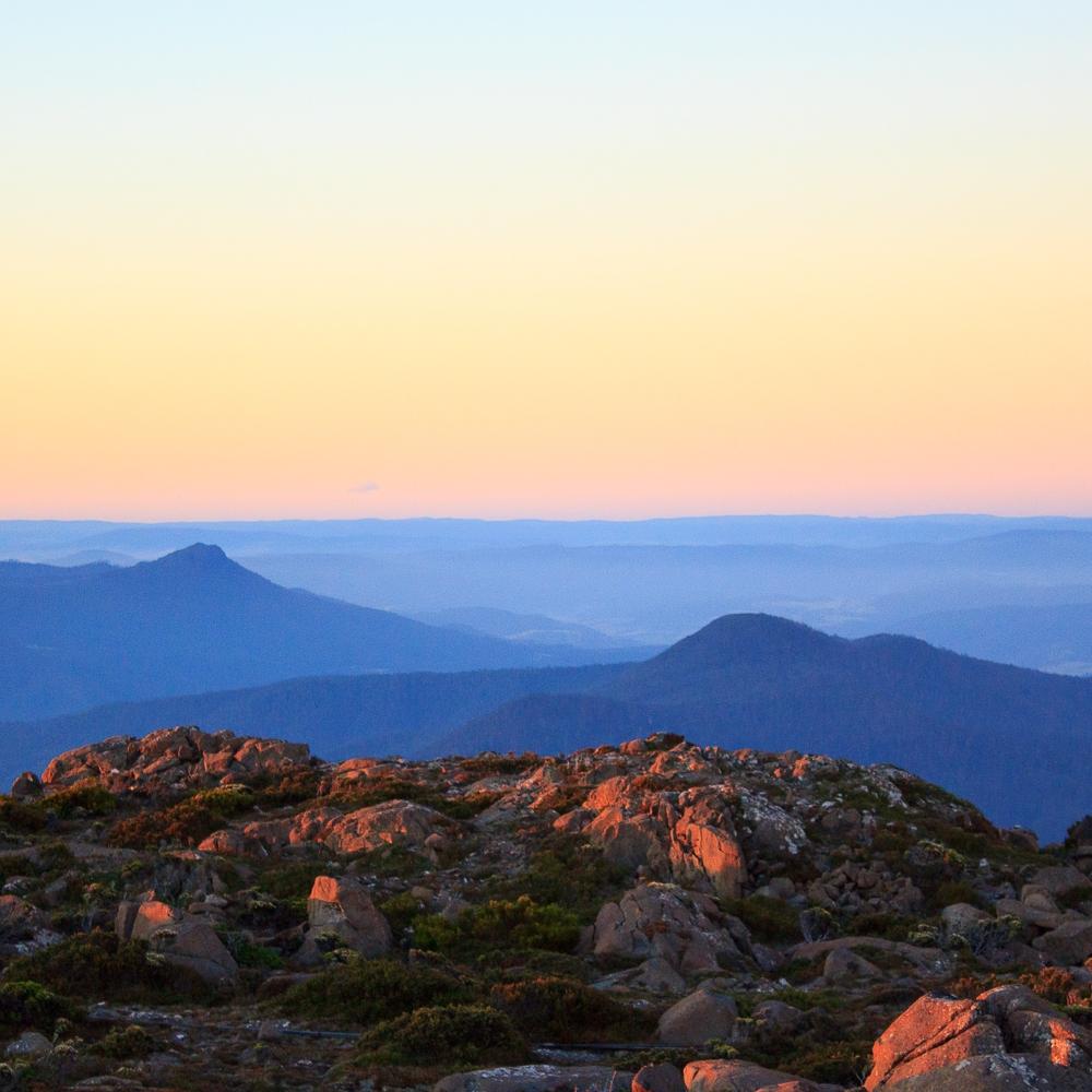 Nidia K. Photography - Mountain Layers - Mount Wellington at Sunset
