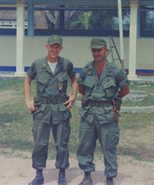 Maj. Floyd Spencer (L) and Maj. Don Johnson (R)