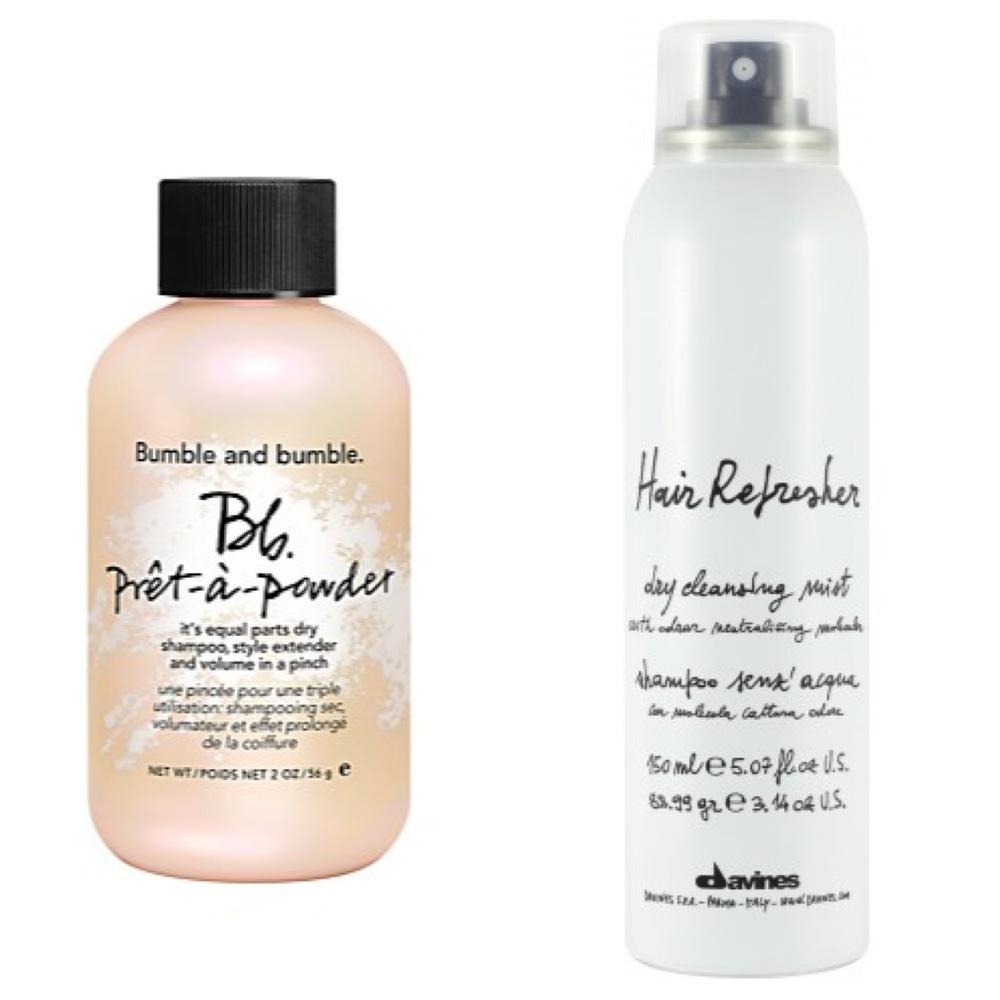 Dry shampoo hair refresher