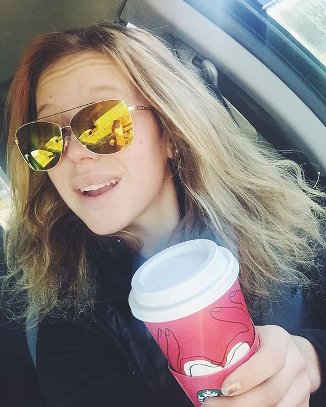 Windows down. Latté in hand. In the double digits. Perfection ☺️ | #itsagoodday #justneedahorse #latteallday #sunshine