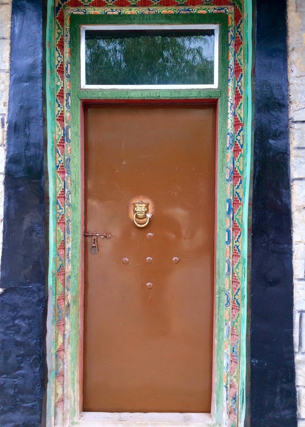 Door with Small Wrathful Knocker, Samye