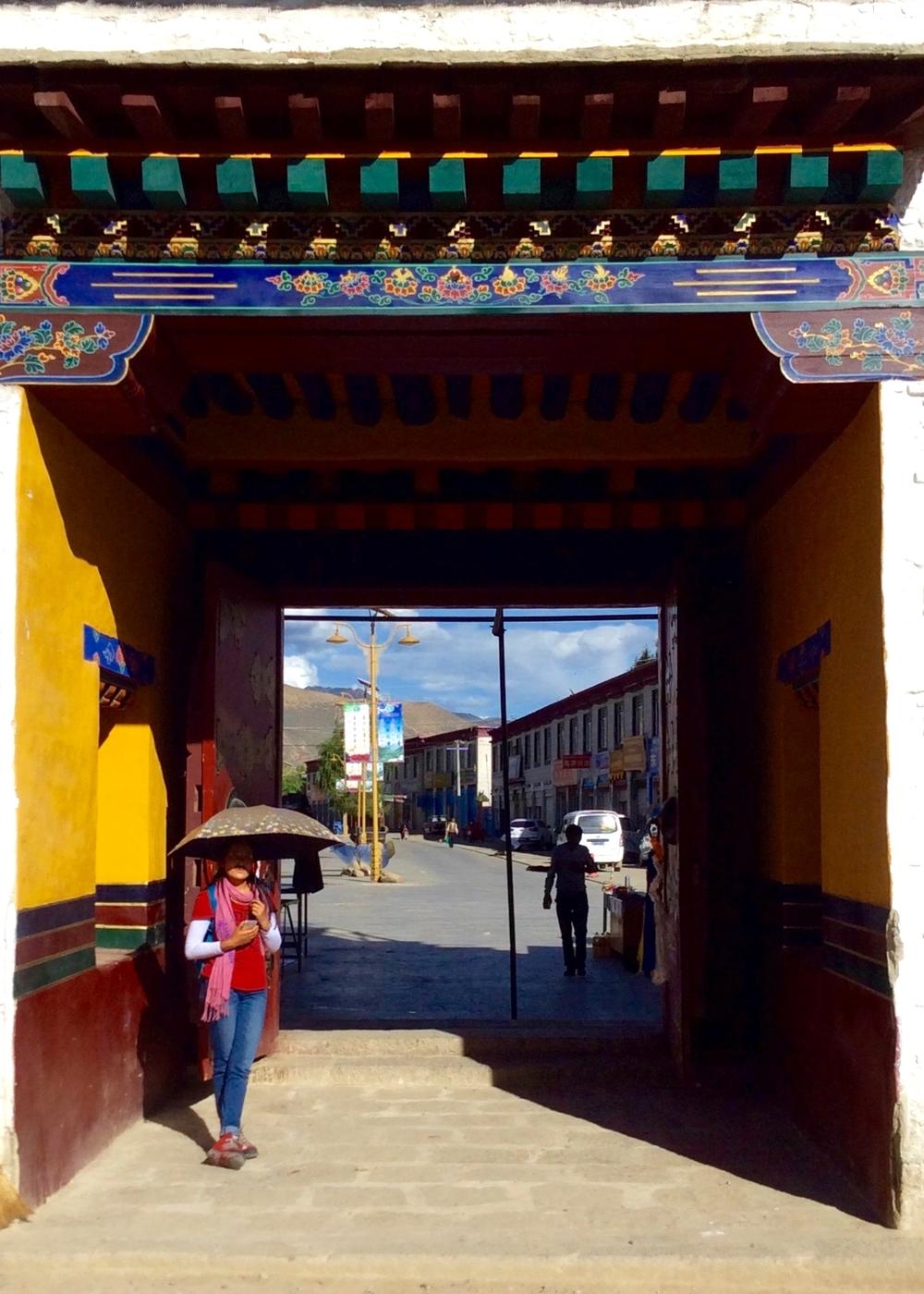 Inside Gateway Samye Monastery, Samye