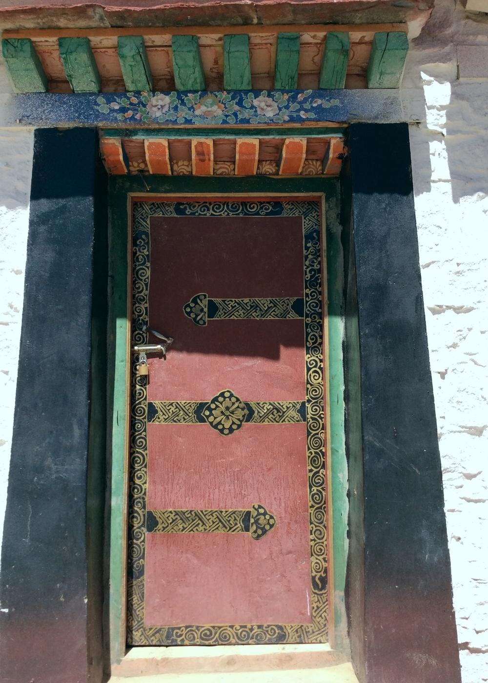 Door with Lotus Flowers, Samye