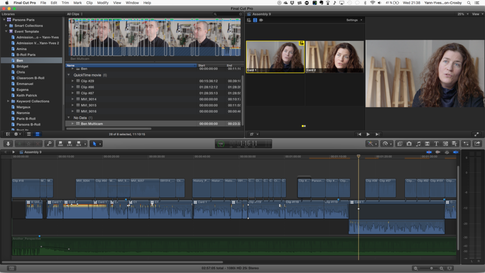 Synchronized Multicam via Final Cut Pro X