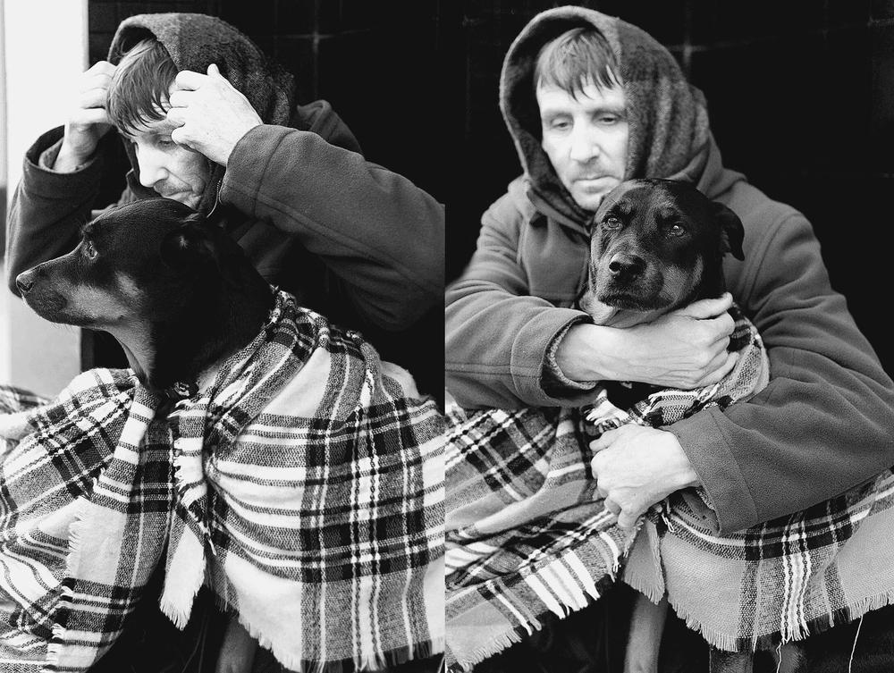 John & Ruby . 10y/o Doberman/Rottweiler