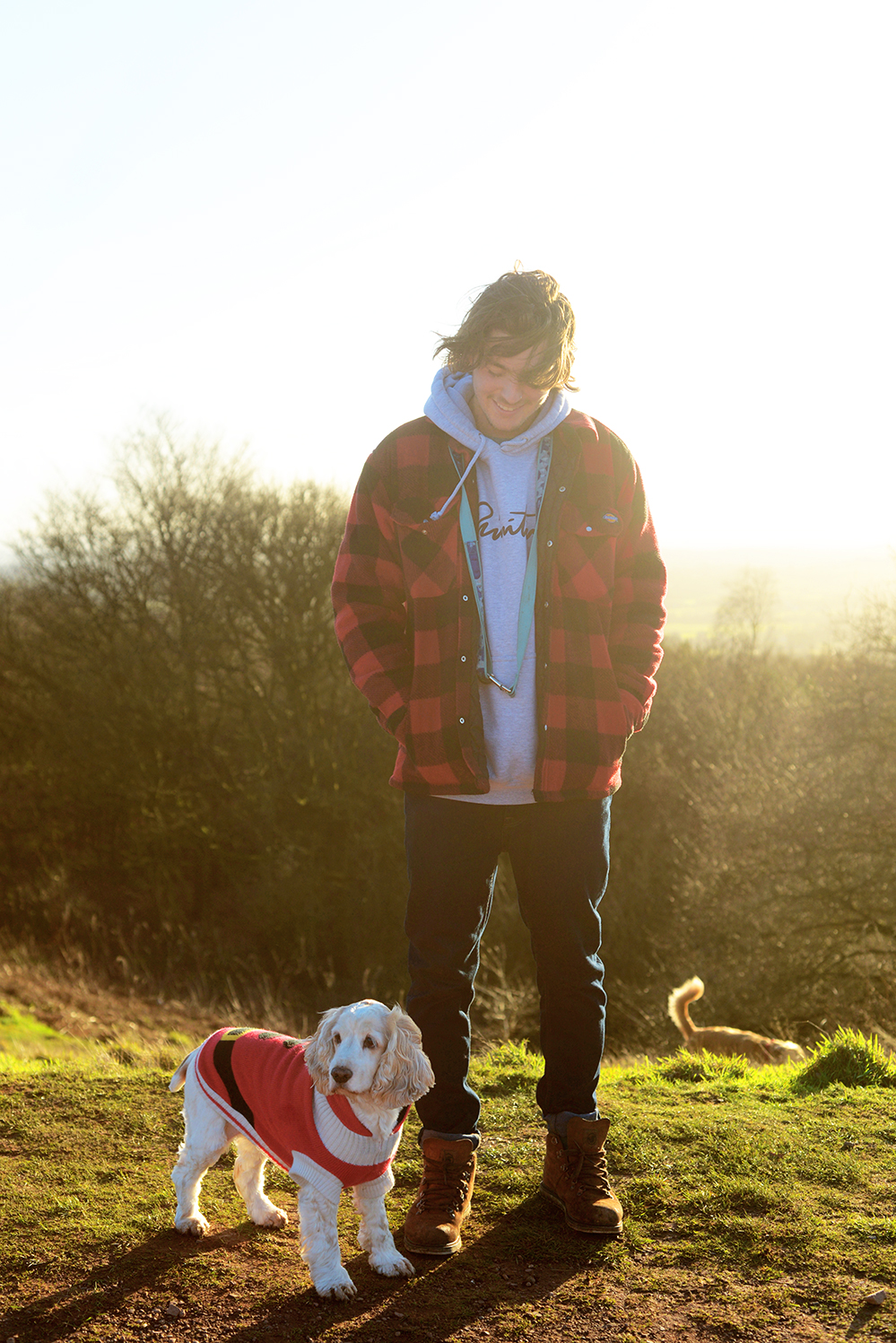 Hey ,I'm Jake and this is my little 11 year old cocker spaniel called Ella, she's a little slower and sassier in her old age but still loves bobbing around clent hills, especially in her red Christmas jumper!