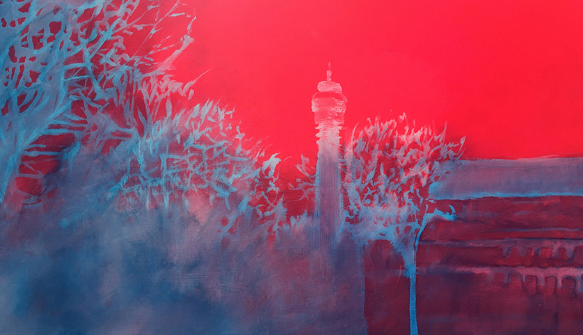 Post Office Tower Frost , Digital Print on Hahnemühle Photorag Paper.