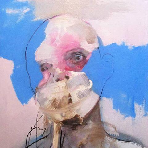 Insane by Ioana Baltan,  Oil and acrylic on canvas, 50×70×2 cm, 2018