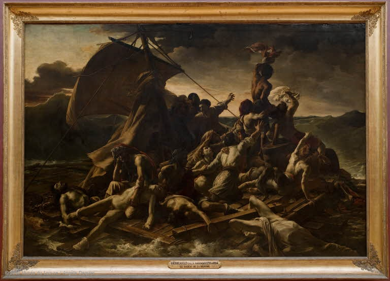 Géricault's The Raft of Medusa, louvre Tasgmart Dinner