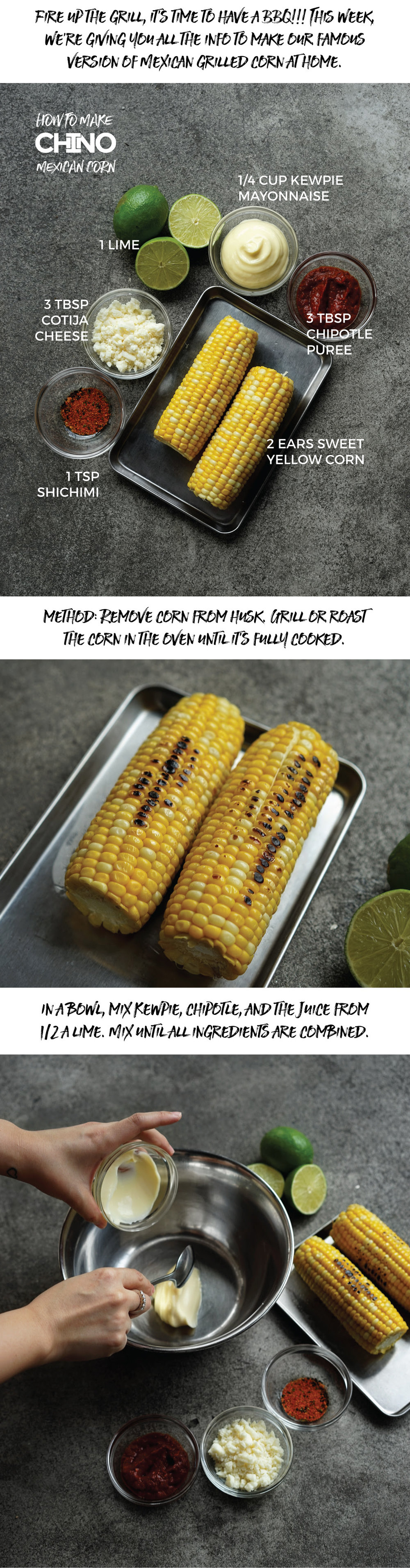 CHINO HK Mexican Corn Recipe