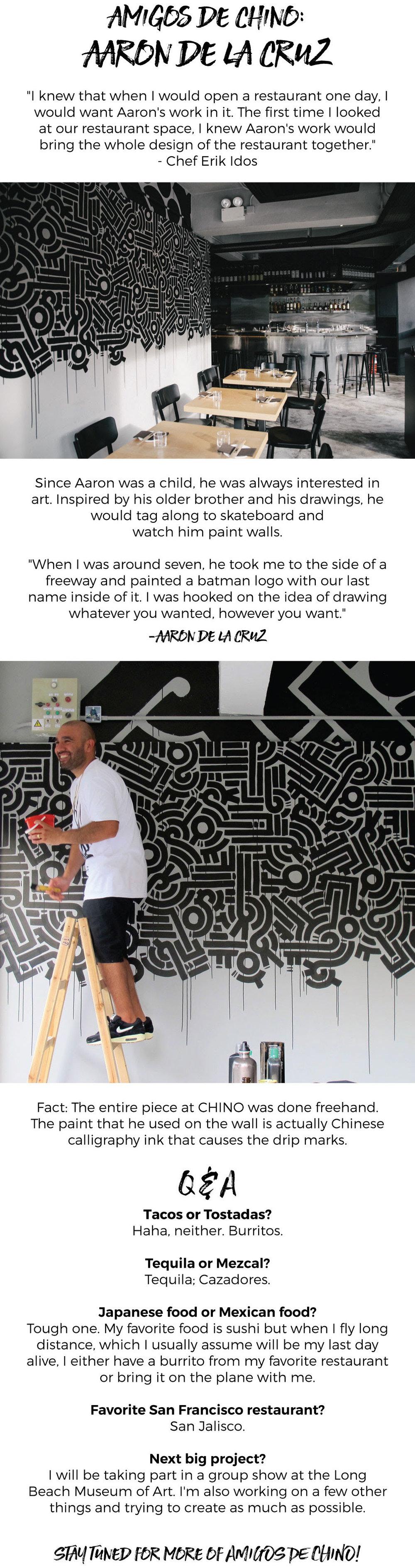 Amigos de CHINO HK: Aaron De La Cruz