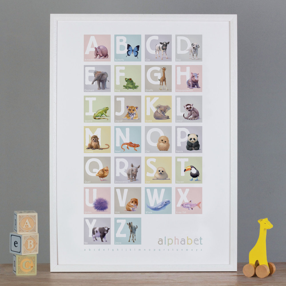 ANIMAL ALPHABET PRINTS  £22-£32