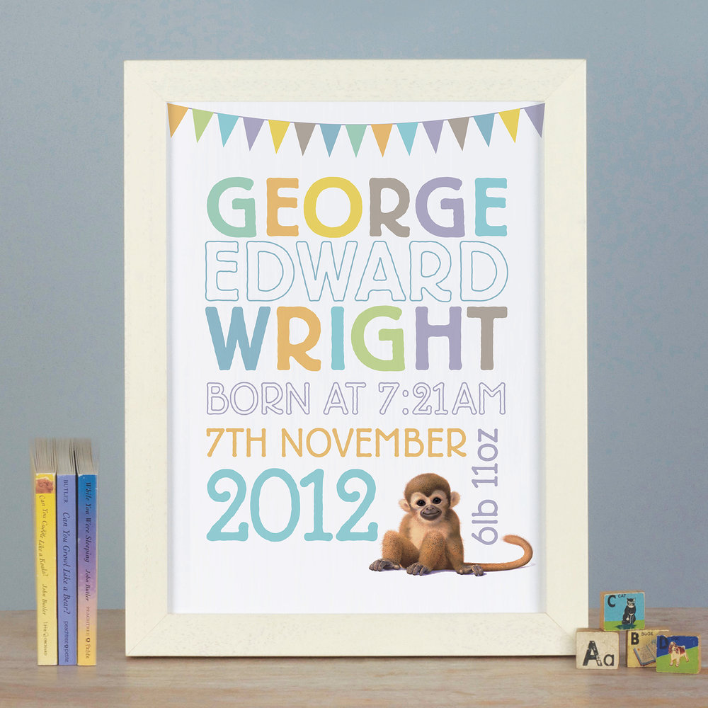 PERSONALISED BIRTH PRINTS  £36