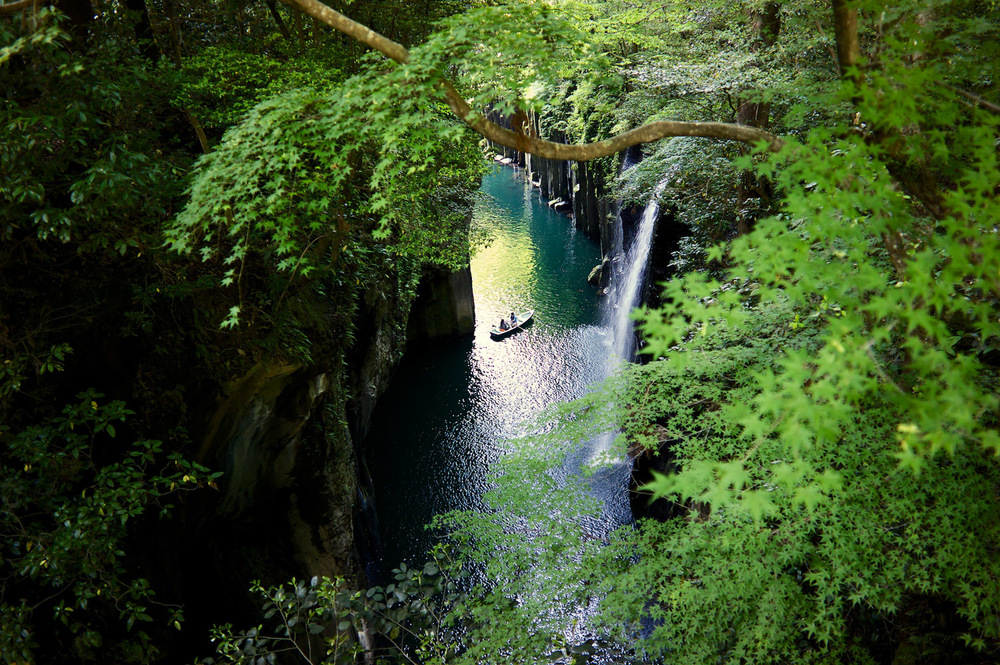 The mighty Takachiho in Miyazaki, get there before 4PM to rent a row boat!