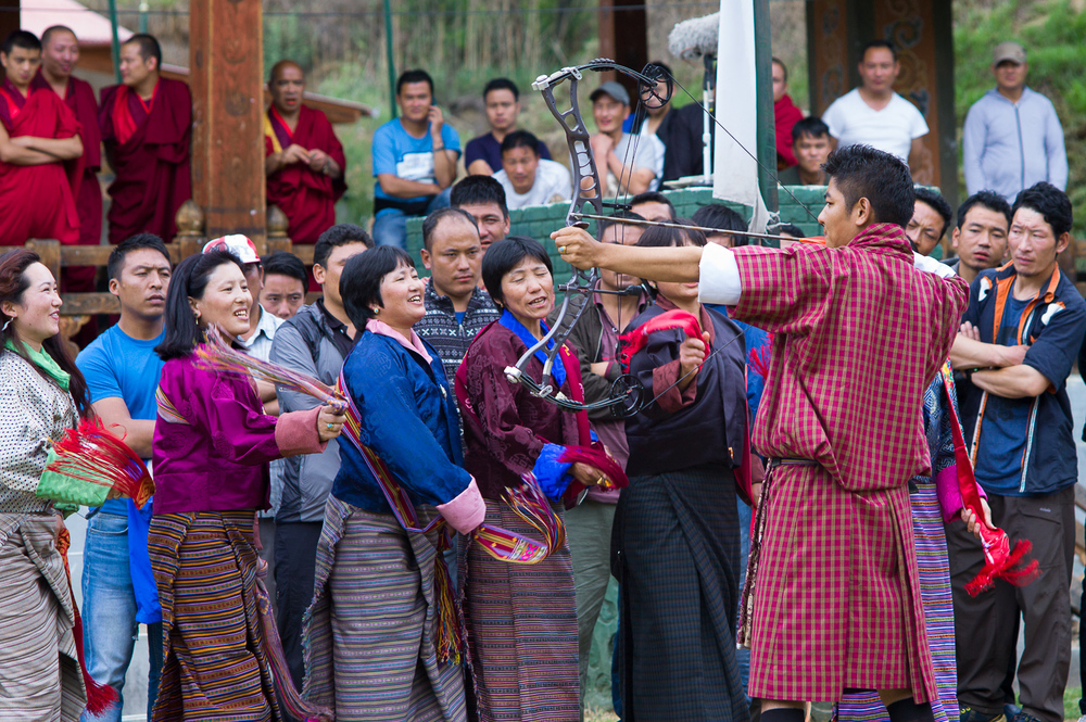 Local archery competition, Thimphu