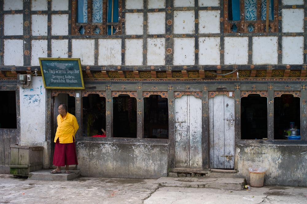 Monk in Punakha