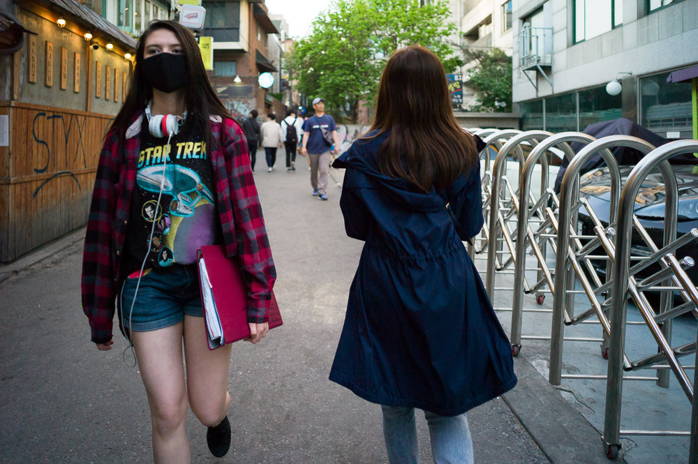 Hongdae is a great place for street photography in Seoul