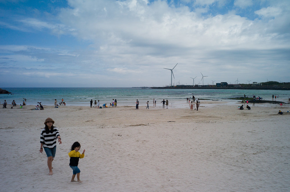White-sand beach in Jeju Island