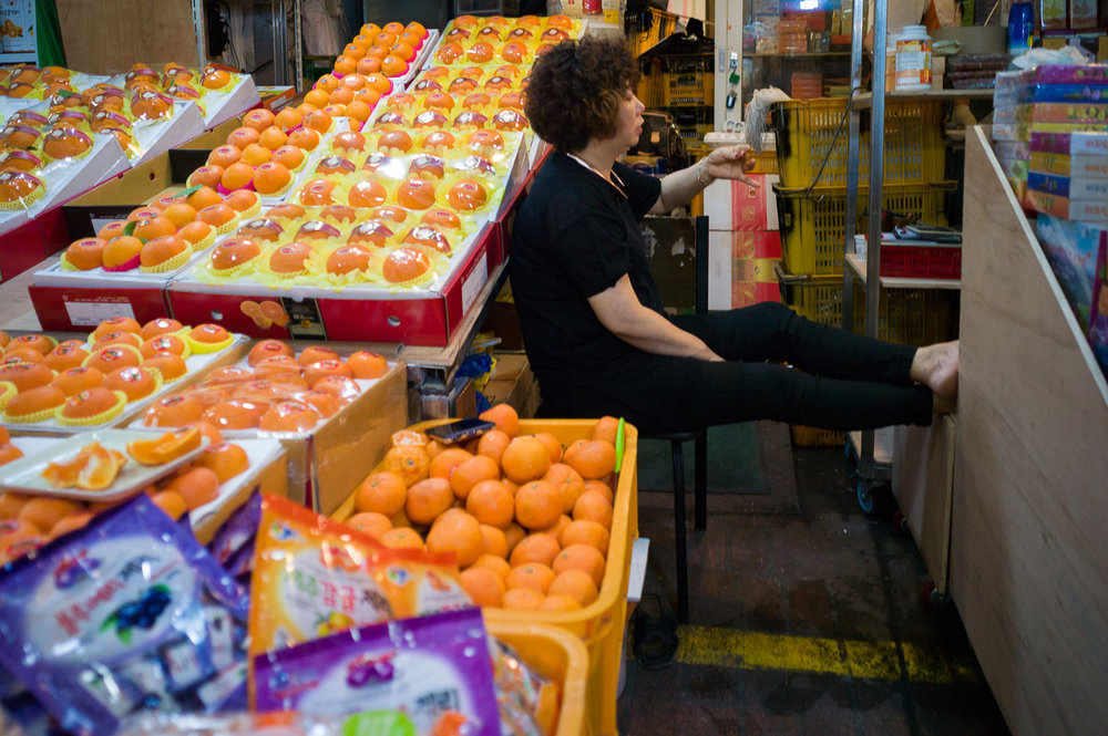 Orange Vendor in Dongmun Market