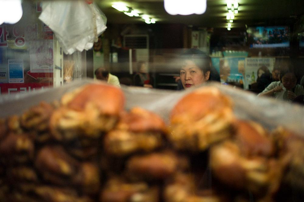 Street vendor in Namdaemun Market