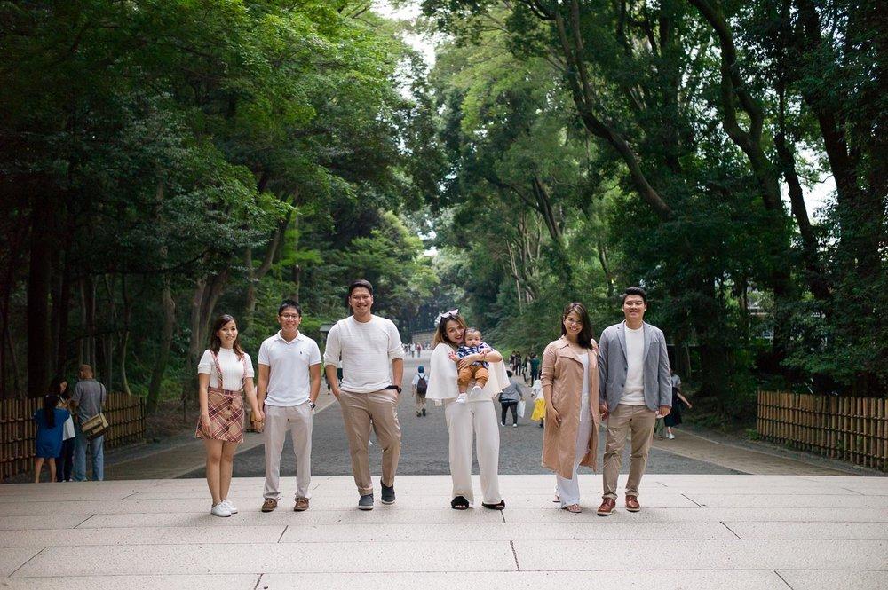 Family Photographer based in Tokyo, taken at Meiji Shrine