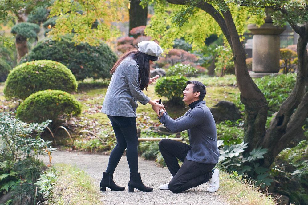 Tokyo Surprise Proposal Photographer in Koishikawa Park.jpg