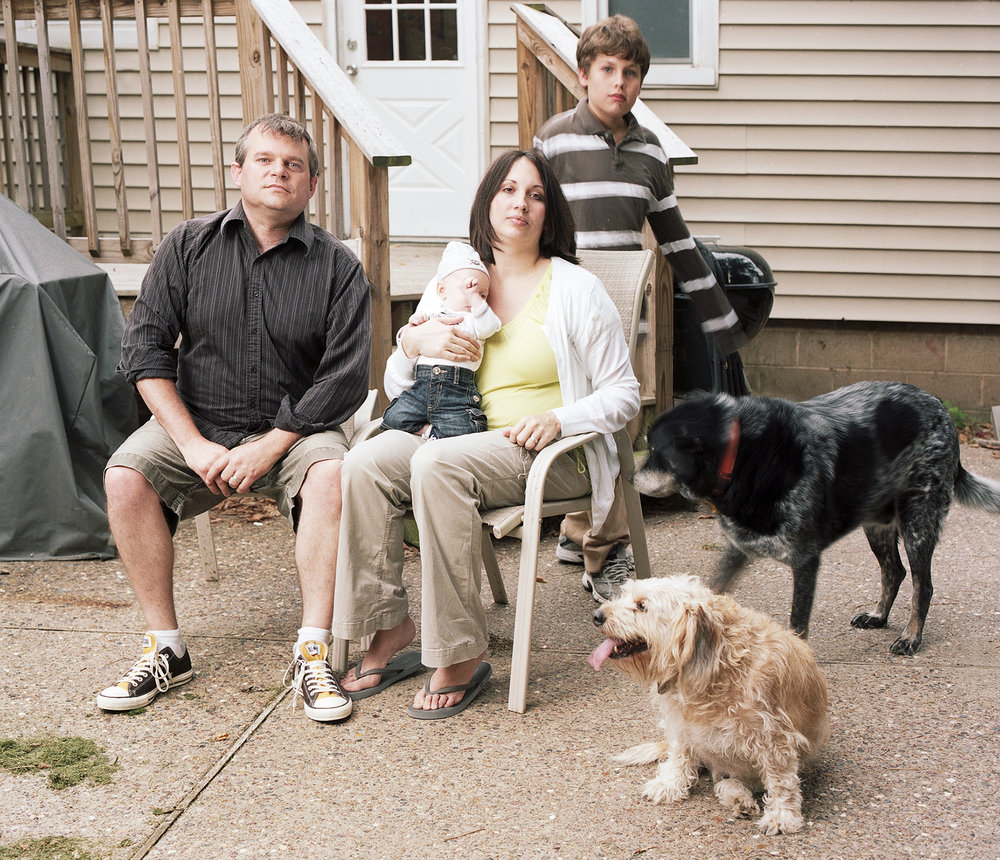Chris, Trish, Max, Zach, and dogs, 2011