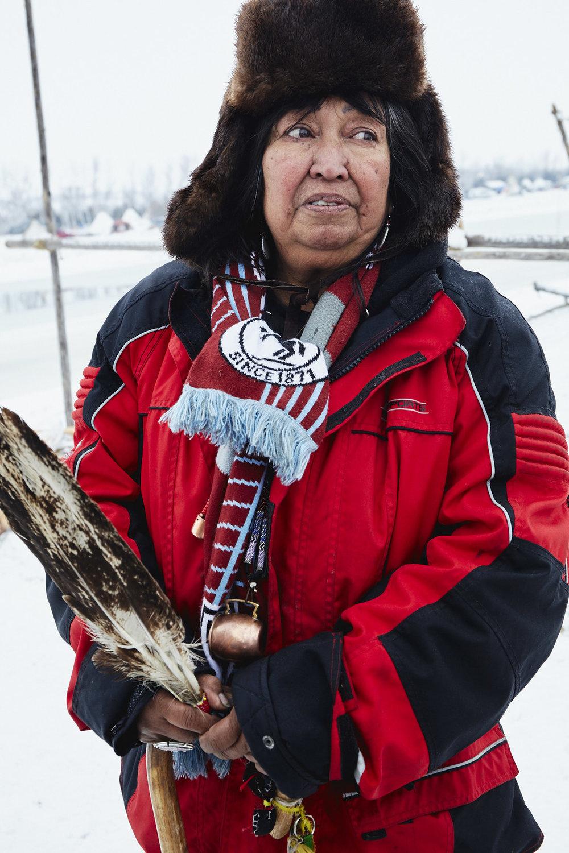 Beatrice Menasekwe Jackson from the Tsimshian tribe in Ketchikan, Alaska, now living in Michigan