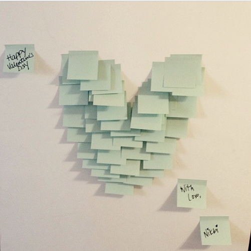 Post it hearts